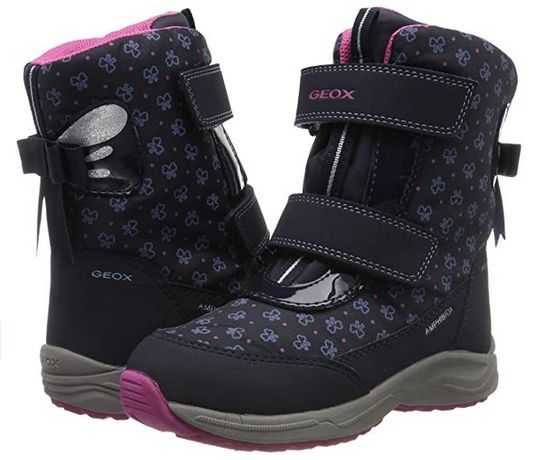 Ботинки зимние мембрана теплые Geox Girls J Kuray Джеокс р 40