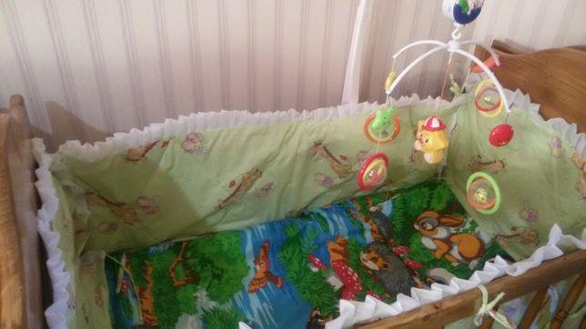 Защита на кроватку.игрушки