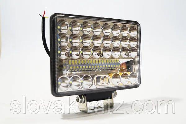 Фара LED прямоугольная 144W (48 диодов) (ближний + дальний)