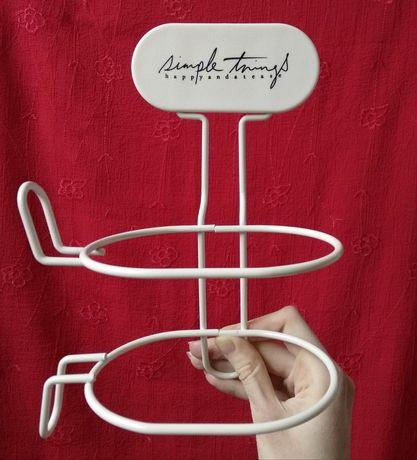 НОВЫЙ настенный держатель для фена белый для ванной для парикмахерской