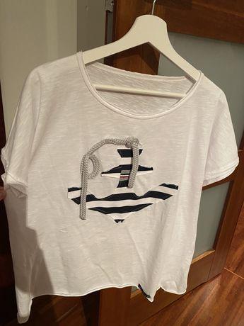 Bluzka biała marine marynarska nowa one size