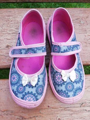 Текстильні тапочки для дівчинки, розмір 31