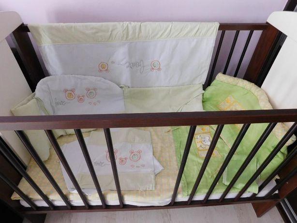 dwa komplety pościeli + wypełnienie poduszka kołdra do łóżeczka- 60zł