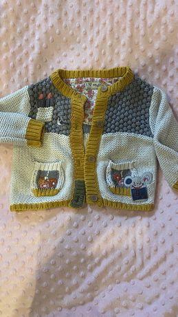 Sweterek jesienny next romiar 80 9-12msc