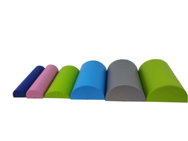 Półwałek do rehabilitacji masażu różne kolory 60x18x12