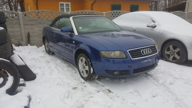 Maska Audi A4 B6 Cabrio LZ5G Niebieska Ladna Pokrywa Silnika