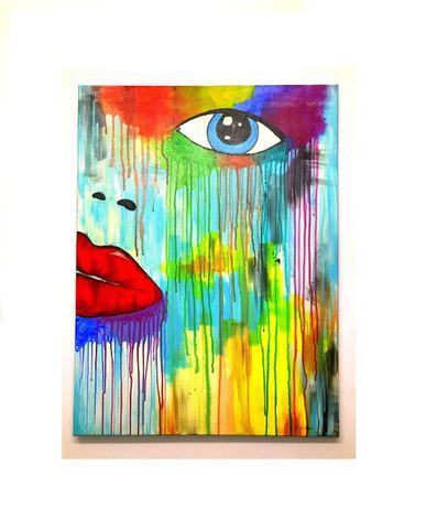 Unikatowy obraz na płótnie 80x60 ręcznie malowany farbą olejna