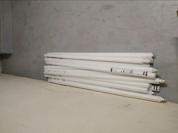 9 Lâmpadas fluorescentes de 36w de 1,20m + 9 arrancadores + balastros