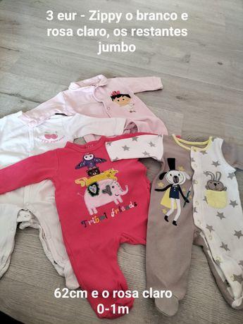 Vendo vários lotes de roupa de bebé