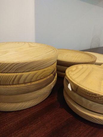 Bases de madeira diâmetros variados