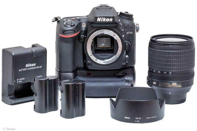 Nikon D7100 + Nikon AF-S 18-105mm c/ caixa - Excelente estado!