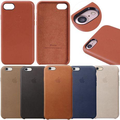 Capa Iphone 6 Plus 6S Plus Apple Original Pele - Genuine NOVO 7 8 Plus