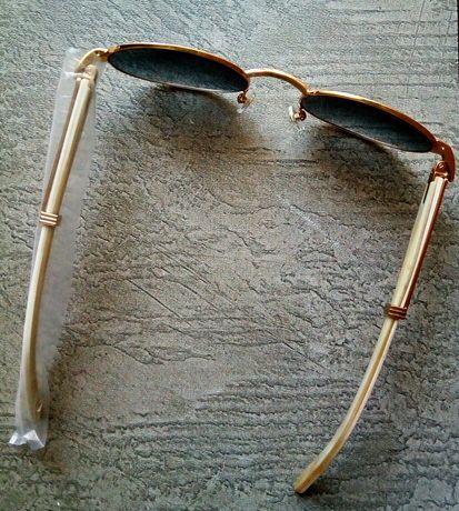 Очки Cartier солнцезащитные. Белая кость + 18К золото. Новые.