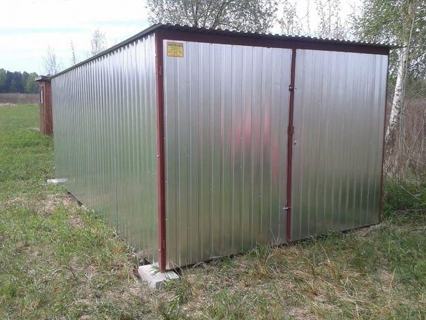 Garaż Blaszany Konstrukcja Stalowa Blaszak Wiata Opcja OPC24H