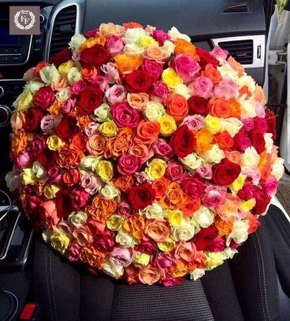 Новинка! Микс цветной розы. Цветы, роза, доставка цветов по Днепру!