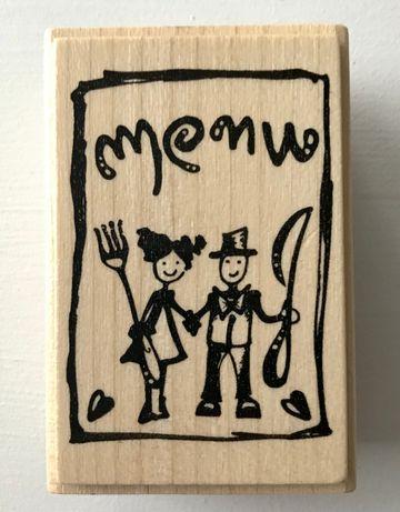 Stempel MENU - scrapbooking, cardmaking NOWY