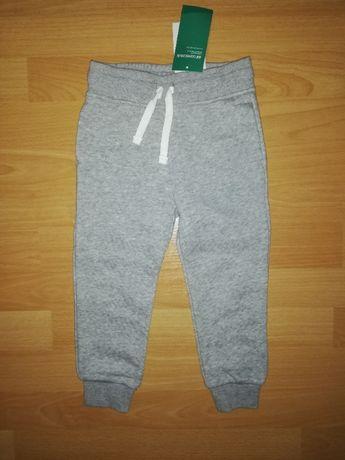 NOWE spodnie dresowe 98 H&M, ocieplane, meszek
