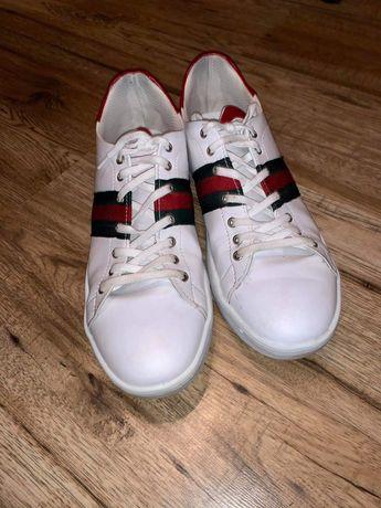Buty trampki skórzane GUCCI męskie, rozmiar 45