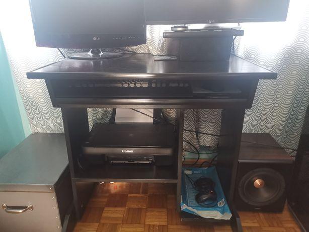 Biurko czarne komputerowe