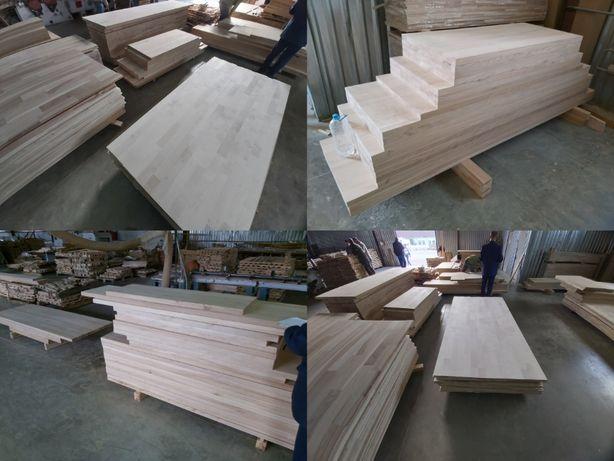 Щит меблевий дубовий, ясень, бук, сходи та комплектуючі, меблі, столи