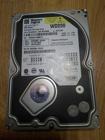 Жесткий диск WD 20gb в хорошем рабочем состоянии...