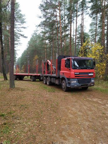Transport drewna, zrzyn, kłody, itp., usługi transportowe hds.
