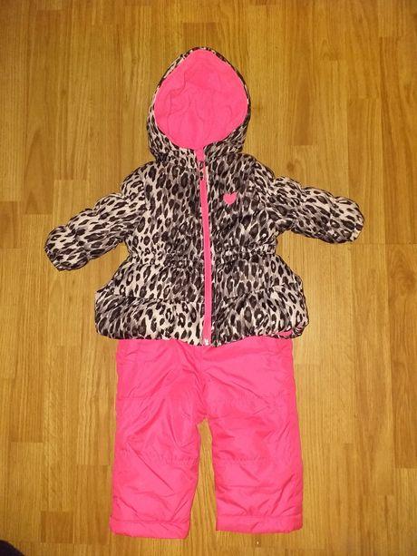 Зимний костюм,комбинезон 9-12 мес для девочки