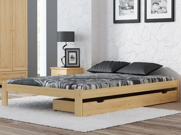 Meble Magnat łóżko drewniane sosnowe nielakierowane 160x200 Irys
