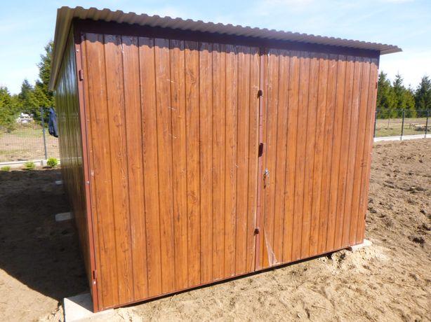 Garaż Blaszak na budowę Schowek budowlany Magazyn Hala Wiata Garaże