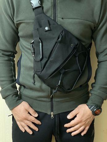 Тактическая сумка-кобура NV-762 Black Elite cross body мужская ПМ ФОРТ