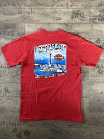 Koszulka Harley Davidson #1 Emerald City Seattle czerwona Size M