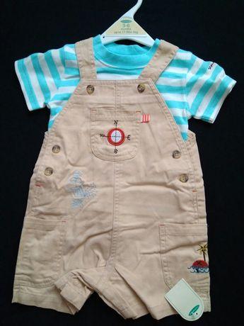 Набор Mothercare комбинезон и футболка, песочник, для мальчика 3-6 мес