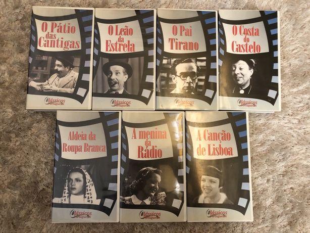 10 Cassetes VHS Clássicos Portugueses