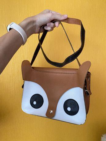 Женская сумка Лисичка сумка на плечо для девушки