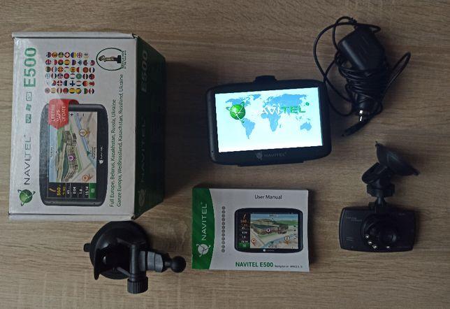 nawigacja gps NAVITEL E500 + kamerka samochodowa , zestaw,bdb stan