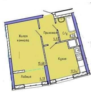 """1-комн.квартира на Каманина в ЖК «48 Жемчужина"""""""
