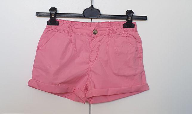 Krótkie spodenki dziewczęce, różowe, H&M, rozm. 134