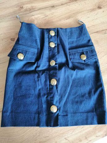 Spódnica S niebieska