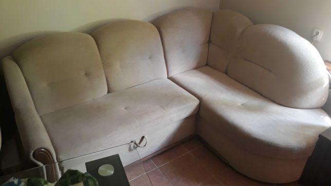 Zestaw wypoczynkowy narożny plus fotel