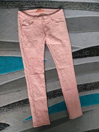 Jasne różowe spodnie L