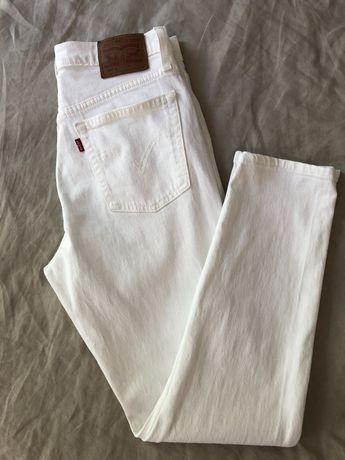 Jeansy Levi's 501 slim fit 27x28 białe idealny!! stan