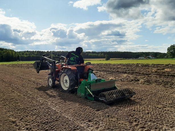 zakładanie trawników, porządkowanie terenu