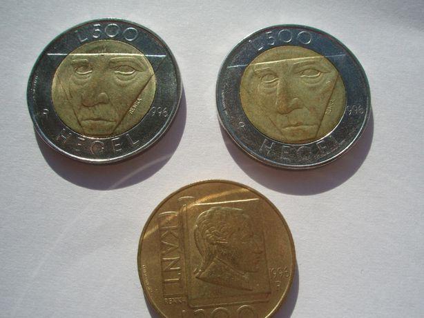 Zestaw monet San Marino, Włochy 500 lirów 1996 Hegel