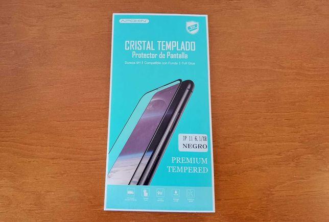 Vidro temperado iPhone 11 / XR preto
