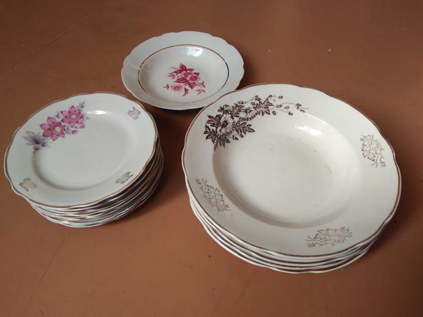 Посуда тарелки форфор СССР