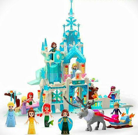 Детский конструктор для девочек замок дворец холодное сердце Анна Эльз