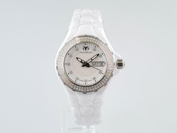 Женские новые часы TechnoMarine Cruise 36 мм керамика бриллианты