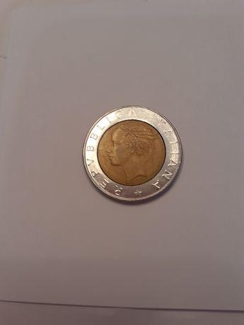 Moneta włoska Repvbblica Italiana 500 lirow 1985