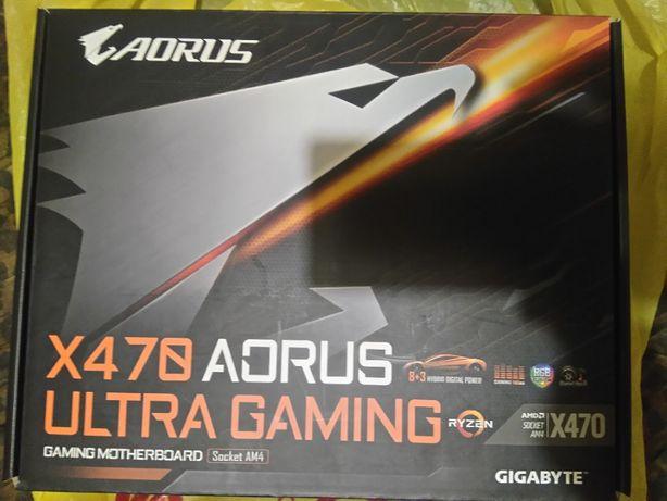 Материнская плата Gigabyte X470 Aorus Ultra Gaming/rev 1.0 сокет AM4.