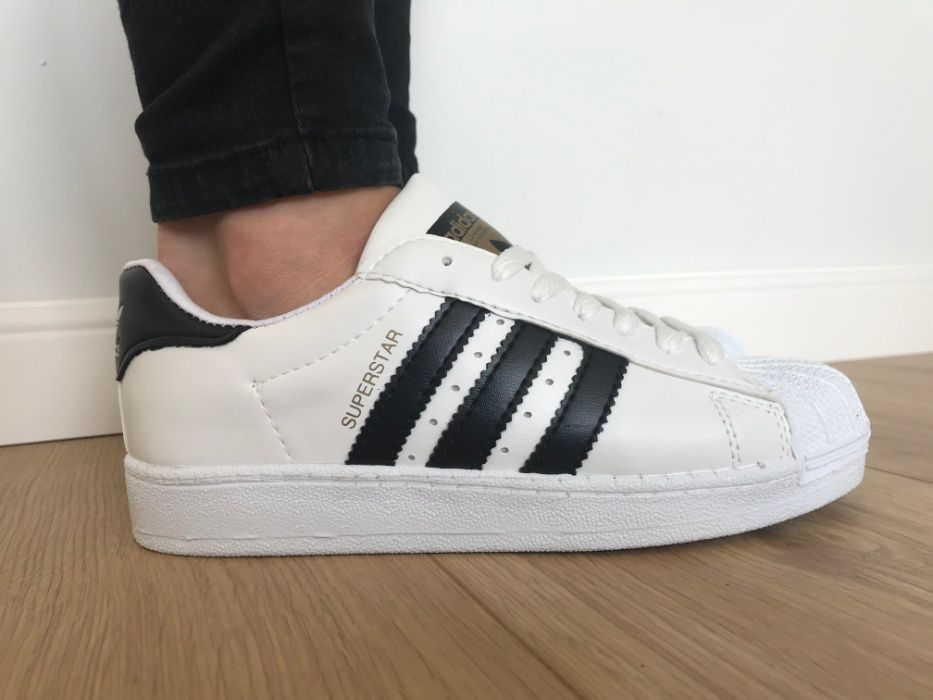 Adidas Superstar. Rozmiar 38. Białe - Czarne paski. Bardzo modne! Udryn - image 1